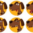 Stock Vector: Cartoon dog emotions