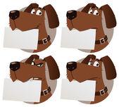 Собака с знак — Cтоковый вектор