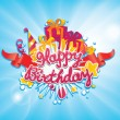 Happy birthday greetings card design — Stock Vector #29219027