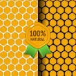 Honeycomb seamless texture in two variations — Stock Vector