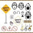 Safety icons — Vettoriale Stock #29219363