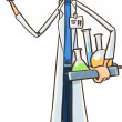Scientist character concept — Stock Vector