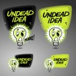 Undead idea banner design — Stock Vector