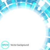 Abstract blue circle based background — Stock Vector