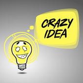 Crazy idea banner — Stock Vector