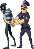 Police officer arrested thief — Stock Vector