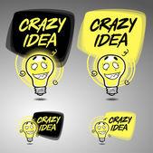 Crazy idea banner set — Stock Vector