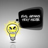 Evil genius idea vertical banner design — Stock Vector