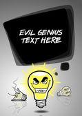 Evil genius idea vertical banner design — Wektor stockowy