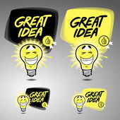 Great idea symbol — Stock Vector
