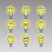 Idea icon emotions set — Stock Vector