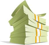 Money stack — Stock Vector
