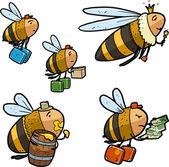 Cartoon bee characters — Stock Vector