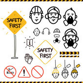 Safety icons — Stock Vector