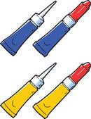 Super glue tube — Stock Vector