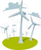 Windmills — Stock Vector