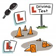 Driving test — Stock Vector #42111085