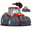 Red tractor — Stock Vector