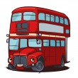 British bus — Stock Vector
