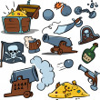 Pirate treasure — Stock Vector