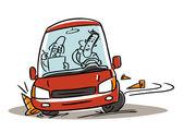Driving school test — Stock Vector