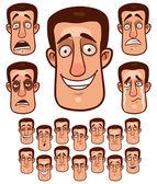 Face emotions — Stock vektor