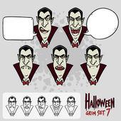 Dracula's face. — Vettoriale Stock