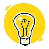 Idea light bulb — Vetorial Stock