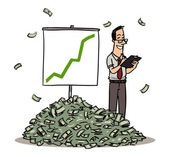 Business man with  financial graph — Vetorial Stock