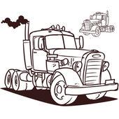 Old truck. — Stock Vector