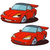 Sports car character — Stock Vector