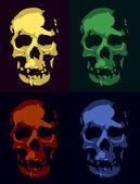 черепа — Cтоковый вектор