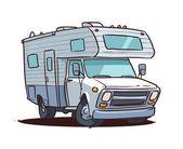 Camping truck — Stock Vector