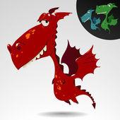 Funny dragon — Stock Vector