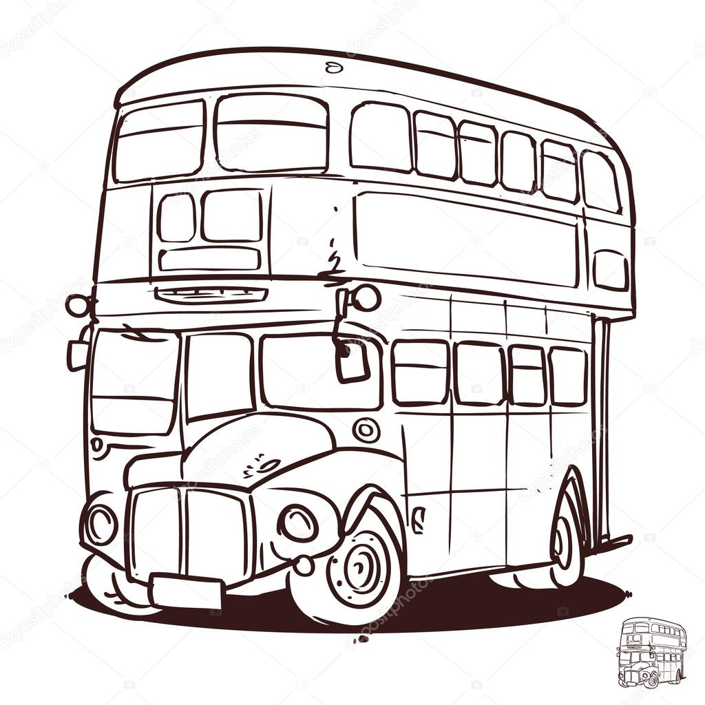 double decker bus coloring pages - photo#20