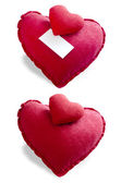 Heart pillow — Stock Photo