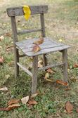 Old chair in the garden — Stock Photo
