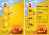 Honey poster — Stock Photo