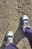 Teenager sneakers — Stock Photo