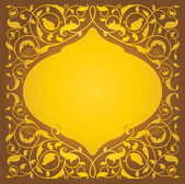 Islamic floral art in gold version — Stock Vector