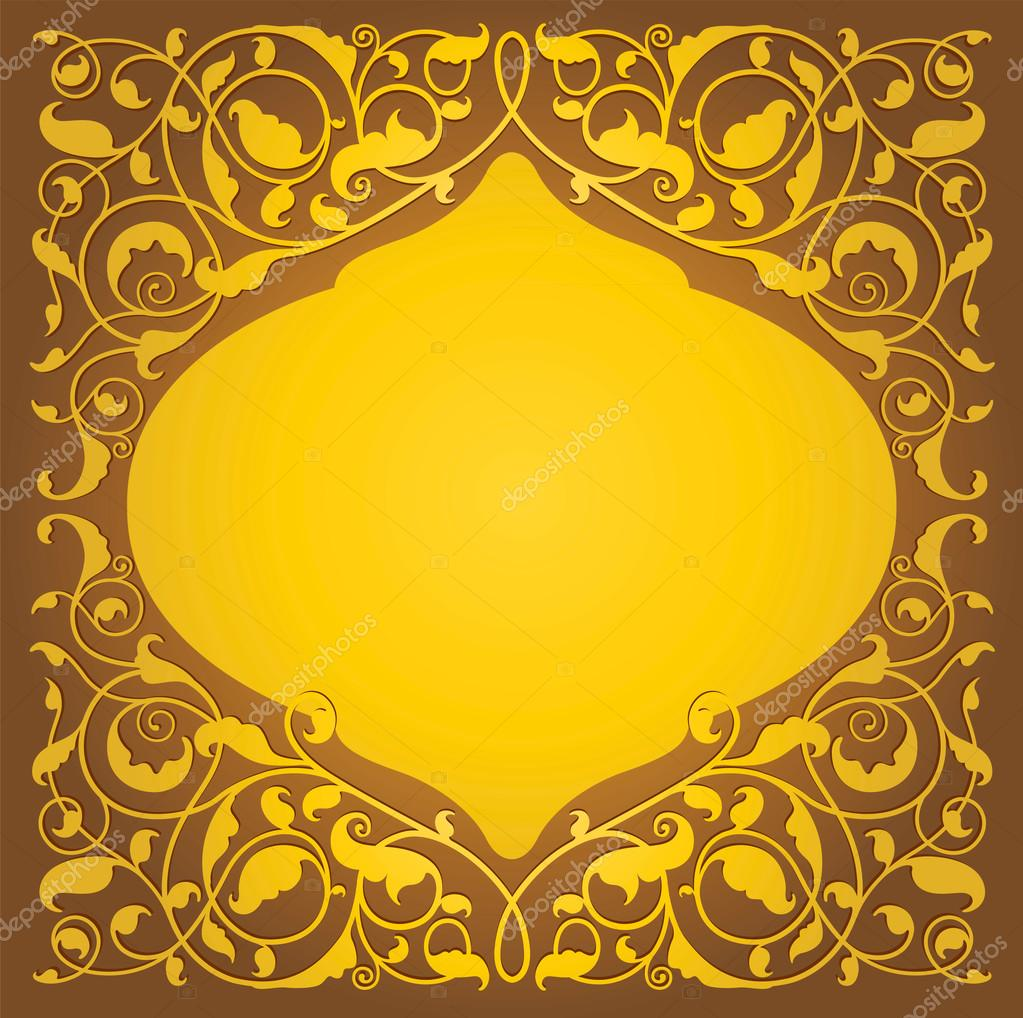 Islamic floral art in gold version — Stock Vector © rchicano ...