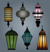 Set of arabic lantern part 2 — Stock Vector