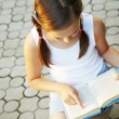Girl reading book — Stock Photo #28724257