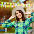 Smiling cowgirl — Stock Photo #33258901