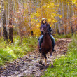 Woman riding — Stock Photo