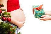 Gift pregnant — Stock Photo