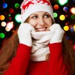 Stock Photo: Beauty girl on winter