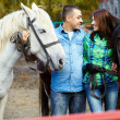 Couple with horses — Stock Photo #38276953