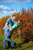 Couple on a walk — Stock Photo