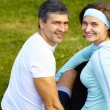 Portrait of sporty couple — Foto de stock #39449699